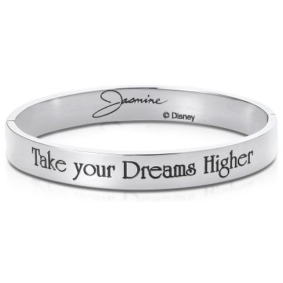 Ladies Disney Couture Silver Plated Jasmine Message Bangle DSB374