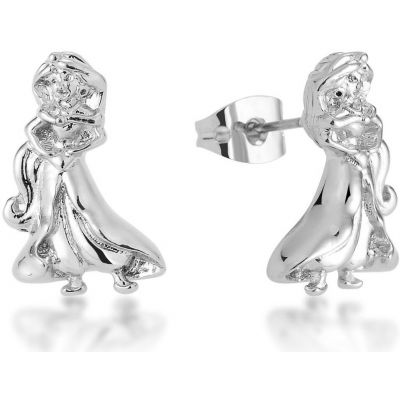 Ladies Disney Couture Silver Plated Jasmine Stud Earrings DSE363