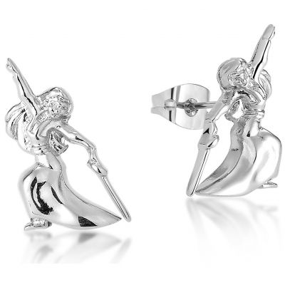 Ladies Disney Couture Silver Plated Mulan Stud Earrings DSE361
