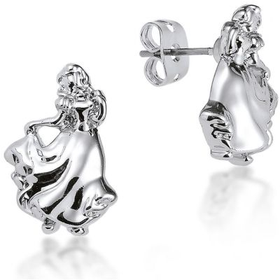 Ladies Disney Couture Silver Plated Snow White Stud Earrings DSE341