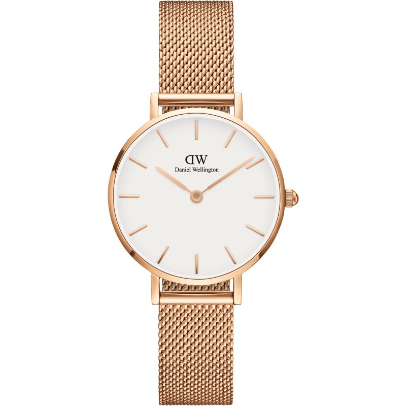 Ladies Daniel Wellington Classic Petite 28 Melrose White Watch DW00100219