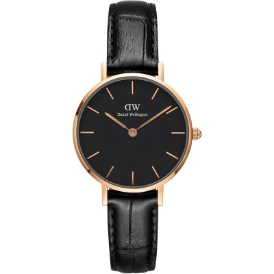 Daniel Wellington Classic Petite 28 Reading Black Damenuhr in Schwarz DW00100223