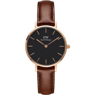Ladies Daniel Wellington Classic Petite 28 St Mawes Black Watch DW00100225