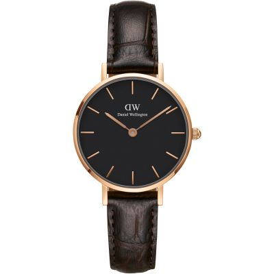 Daniel Wellington Classic Petite 28 York Black Damenuhr in Braun DW00100226