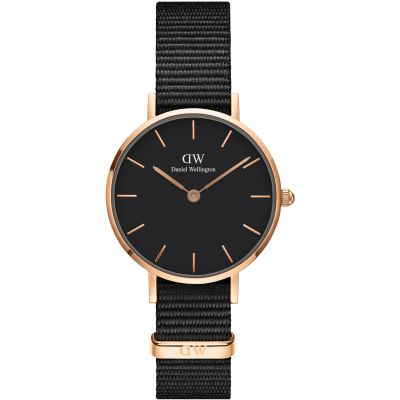 Daniel Wellington Petite 28 Cornwall Black Damenuhr in Schwarz DW00100247