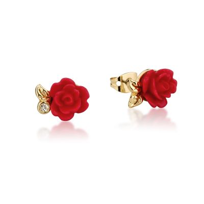 Bijoux Femme Disney Couture Beauty & the Beast Enchanted Red Rose Stud DYE0810