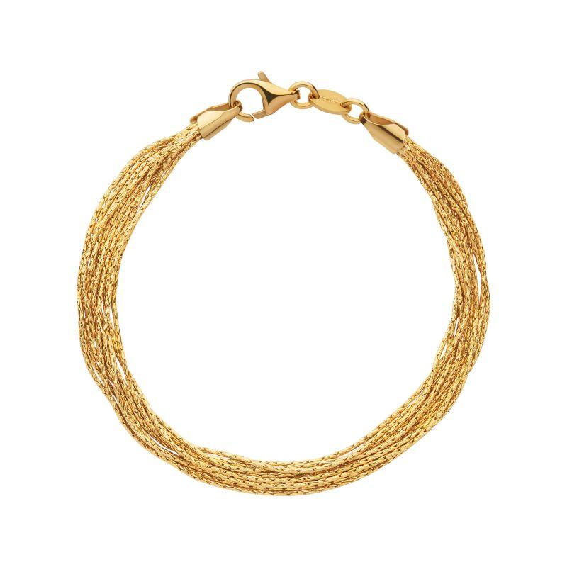 Image of            Ladies Links Of London Sterling Silver Essentials Silk 10 Row Bracelet