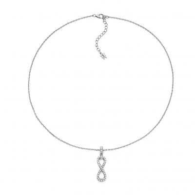Bijoux Femme Folli Follie Stories CZ Infinity Collier 5020.334