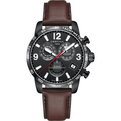 Certina DS Podium Quartz Chronometer Herrklocka Brun C0346543605700