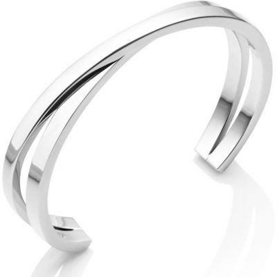 Ladies Abbott Lyon Silver Plated Twist Bangle AL3321