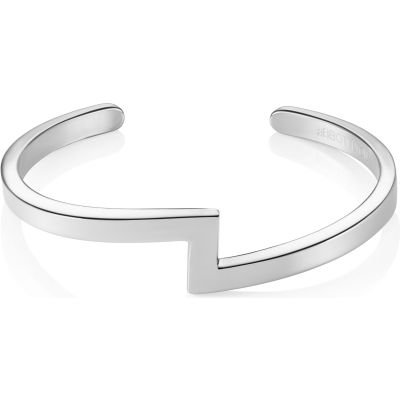 Ladies Abbott Lyon Silver Plated Zig Zag Bangle AL3242