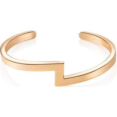 Ladies Abbott Lyon PVD Gold plated Zig Zag Bangle AL3241