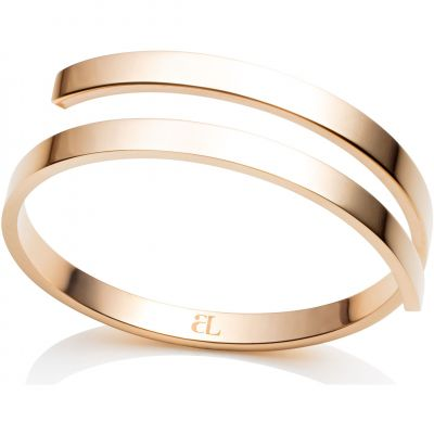 Ladies Abbott Lyon Gold Plated Polished Twirl Bangle AL3423