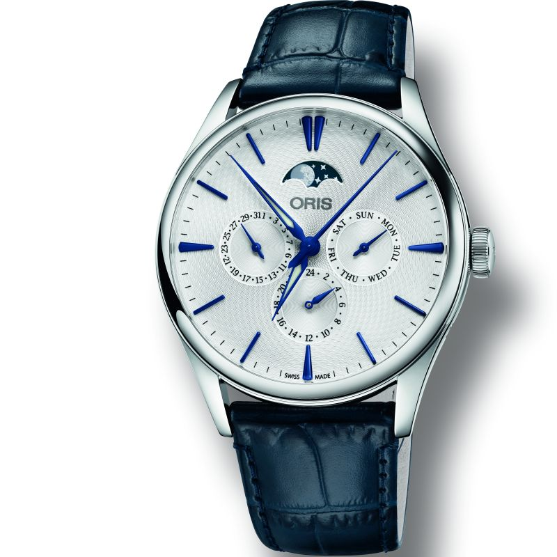 Mens Oris Artelier Moonphase Automatic Watch 0178177294051-0752166FC