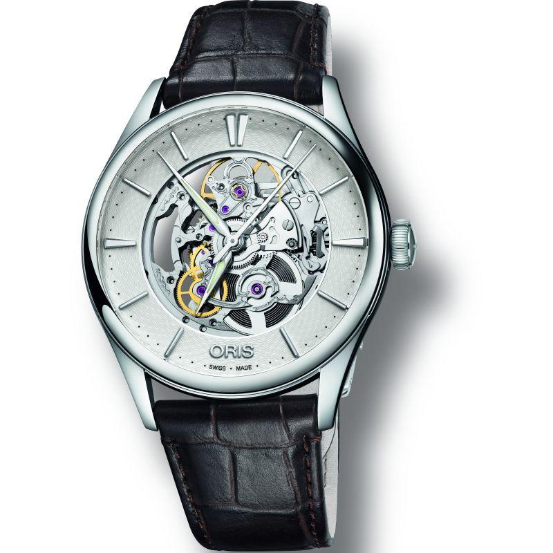 Mens Oris Artelier Skeleton Automatic Watch