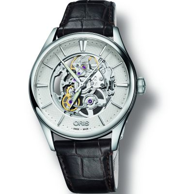 Mens Oris Artelier Skeleton Automatic Watch 0173477214051-0752165FC