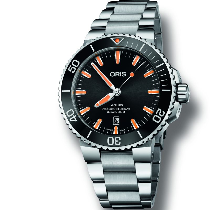 Mens Oris Aquis Automatic Watch 0173377304159-0782405PEB
