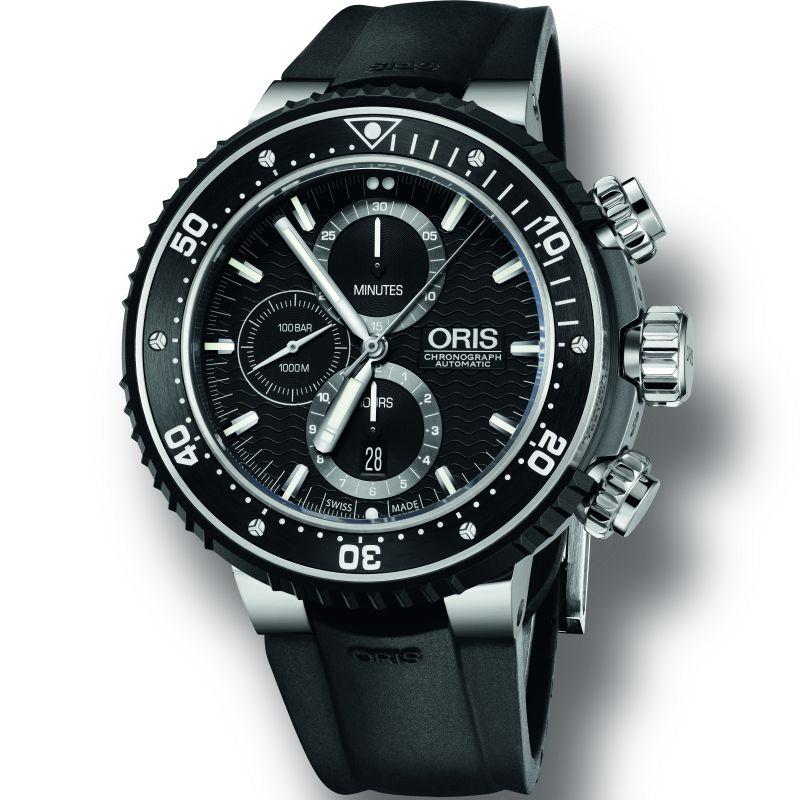 Mens Oris Pro Diver Automatic Chronograph Watch