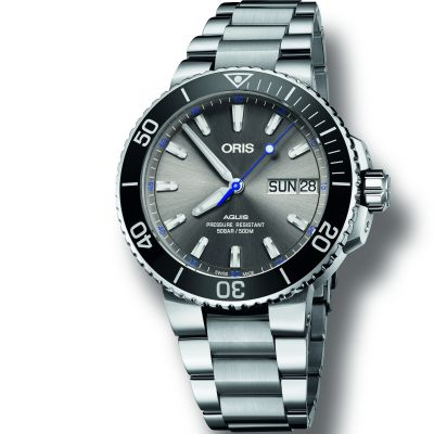 Mens Oris Aquis Automatic Watch 0175277334183-SET-MB