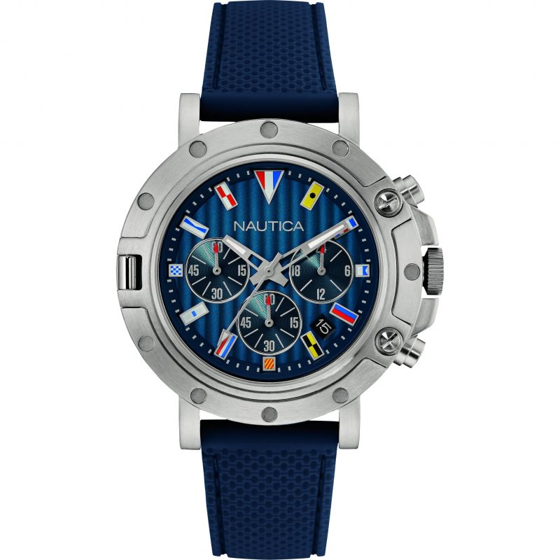 Mens Nautica NST800 Flag Chronograph Watch