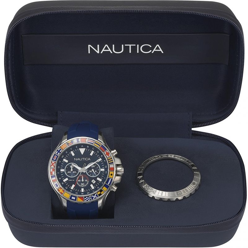 Mens Nautica Bali Box Set Chronograph Watch