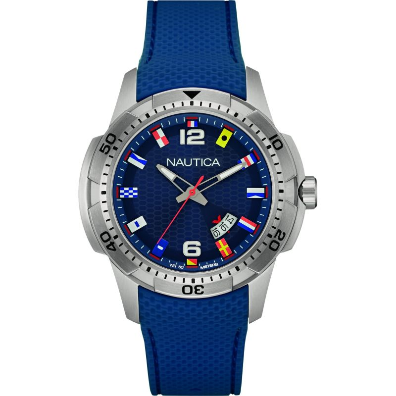 Mens Nautica NCS16 Flag Watch