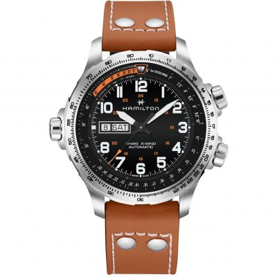 Hamilton Khaki Aviation X-Wing Herrenuhr in Braun H77755533