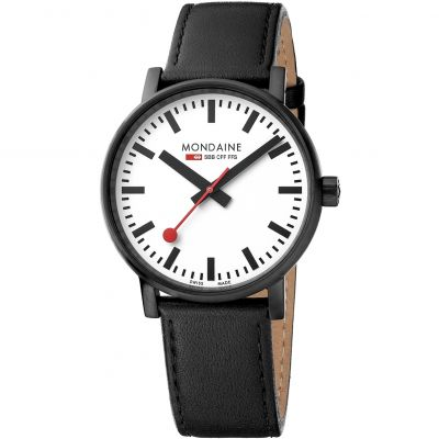 Mondaine Swiss Railways Evo2 40 Herrenuhr in Schwarz MSE40111LB