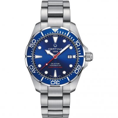 Certina DS Action Diver Powermatic 80 Herrenuhr in Silber C0324071104100