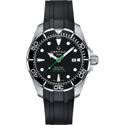 Certina DS Action Diver Powermatic 80 Herrenuhr in Schwarz C0324071705100
