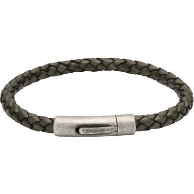 Unique Heren Leather Bracelet Roodkoper PVD B370ABL/21CM