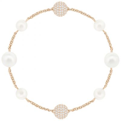 Ladies Swarovski Rose Gold Plated Remix Pearl Bracelet 5365738