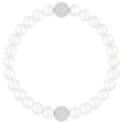 Ladies Swarovski Rhodium Plated Remix Pearl Bracelet 5365736