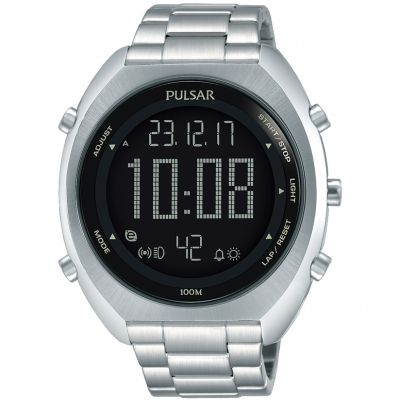 Mens Pulsar Alarm Chronograph Watch P5A015X1