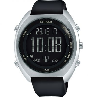 Mens Pulsar Alarm Chronograph Watch P5A023X1