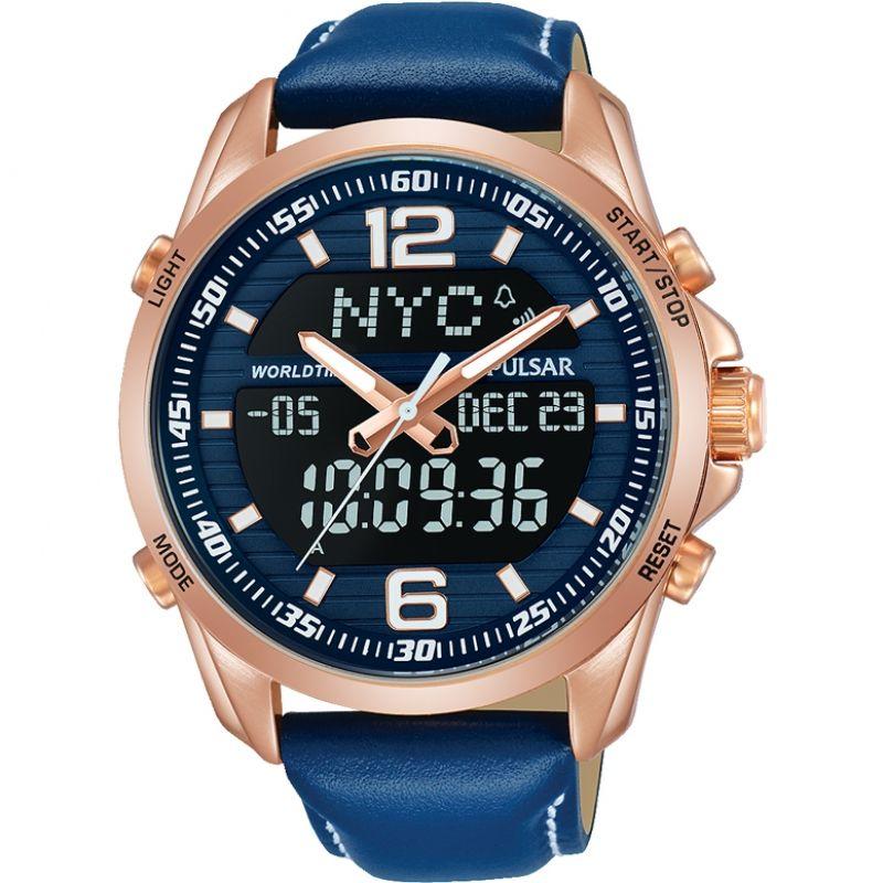 Mens Pulsar Sports Alarm Chronograph Watch