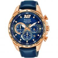 Mens Pulsar Chronograph Solar Powered Watch