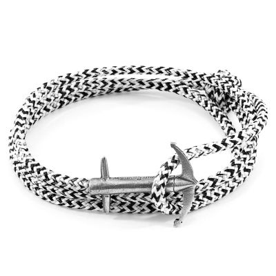 Unisex Anchor & Crew White Noir Admiral Armband Sterling-Silber AC.SI.AD10