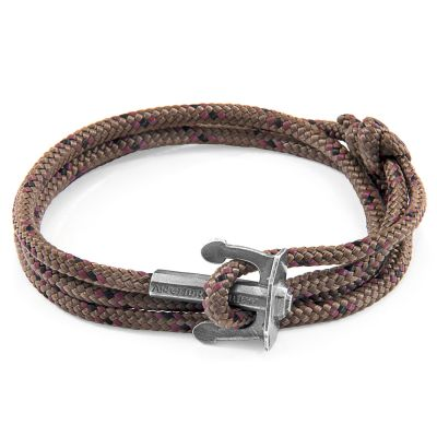 Bijoux Unisexe Anchor & Crew Brown Union Bracelet AC.SI.UN16