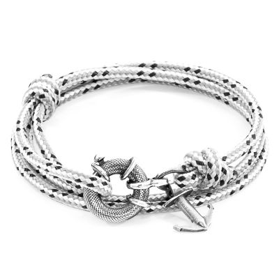 Anchor & Crew Unisex Grey Dash Clyde Bracelet Sterling Zilver AC.SI.CL1