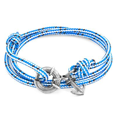 Anchor & Crew Sterling Silver Blue Dash Clyde Bracelet AC.SI.CL2