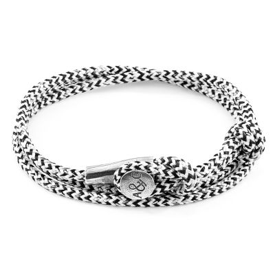 Anchor & Crew Sterling Silver White Noir Dundee Bracelet AC.DO.DU10