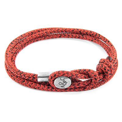 Bijoux Unisexe Anchor & Crew Red Noir Dundee Bracelet AC.DO.DU13