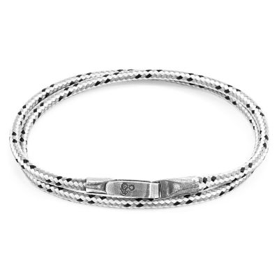 Anchor & Crew Sterling Silver Grey Dash Liverpool Bracelet AC.DO.LI1