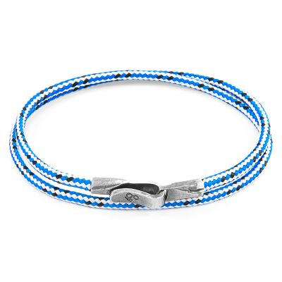 Bijoux Unisexe Anchor & Crew Blue Dash Liverpool Bracelet AC.DO.LI2