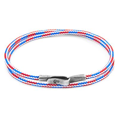 Bijoux Unisexe Anchor & Crew Red, White & Blue Liverpool Bracelet AC.DO.LI14