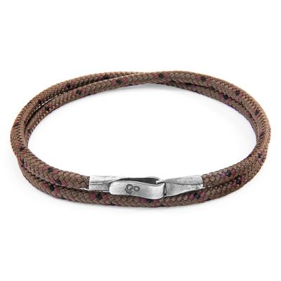 Bijoux Unisexe Anchor & Crew Brown Liverpool Bracelet AC.DO.LI16