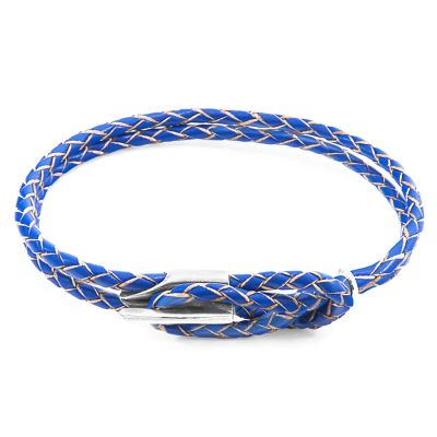 Bijoux Unisexe Anchor & Crew Blue Leather Padstow Bracelet AC.DO.PAN