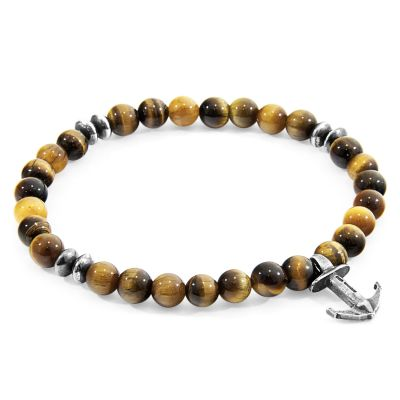 Anchor & Crew Sterling Silver Brown Tigers Eye Starboard Bracelet AC.LI.ST3