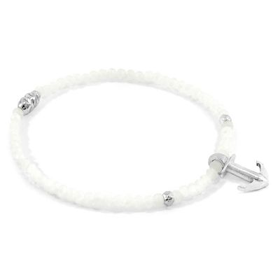 Damen Anchor & Crew White Moonstone Tropic Armband Sterling-Silber AC.HA.TR14